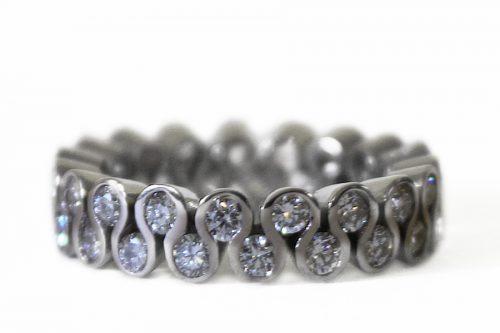 Eternity white gold diamond ring 01
