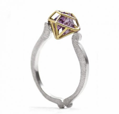 Gold silver amethyst ring e1607807603926